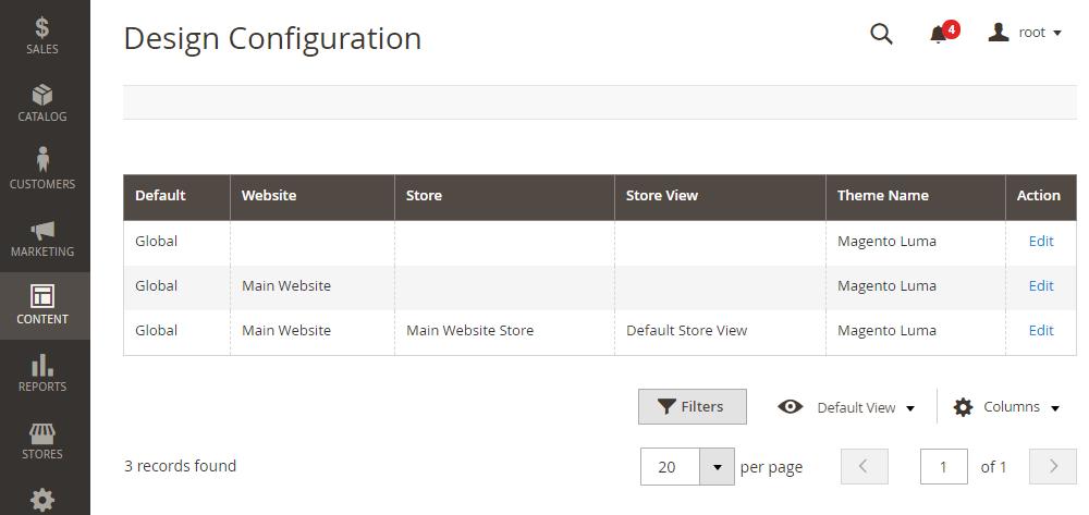 Magento 2 Custom Code, Design Configuration