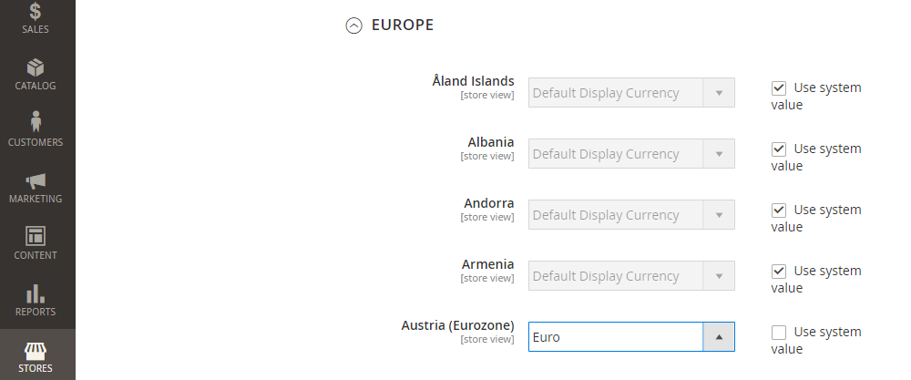 Magento 2 Auto Currency Switcher, Display Currency By Country