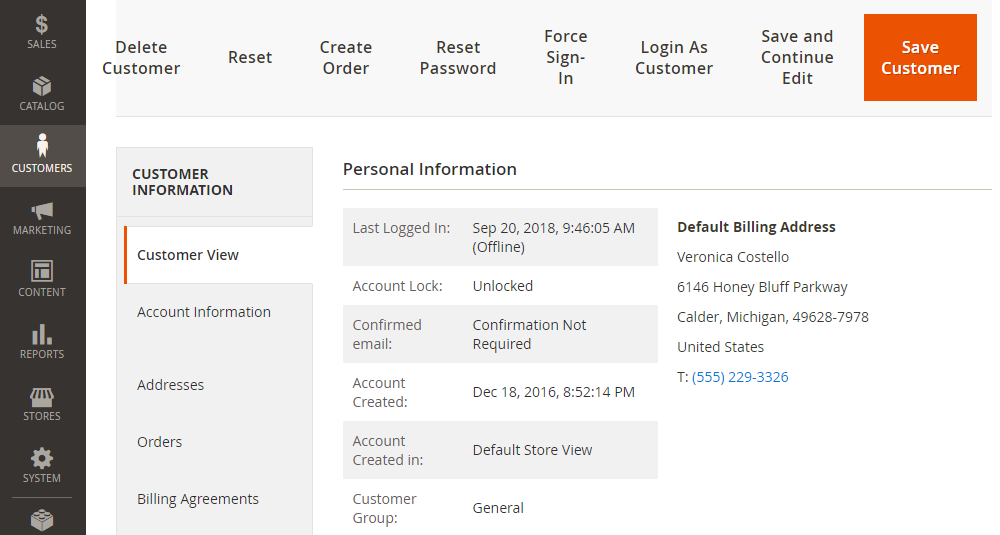Magento 2 Login as Customer,Invoices Edit Page