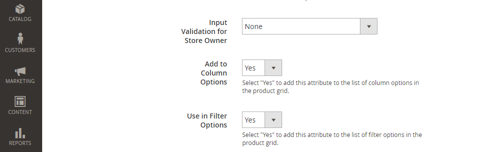 Magento 2 Product Attribute, Advanced Attribute Properties