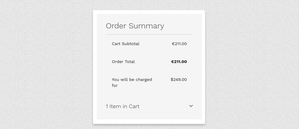 Magento 2 Order Summary