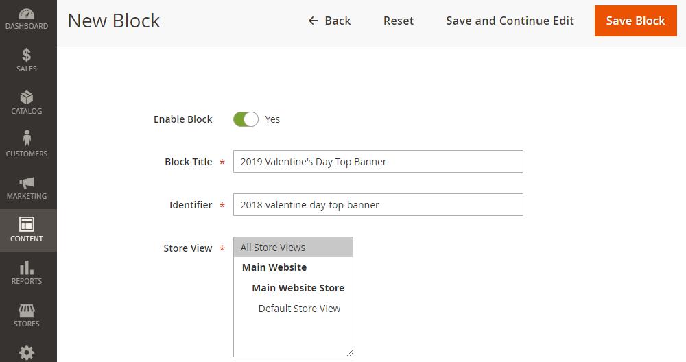Magento 2 Create New CMS Block
